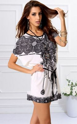 F56317 Womens Tunic Longshirt bat Batwing Blouse